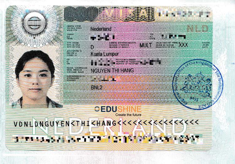 Visa của Hằng