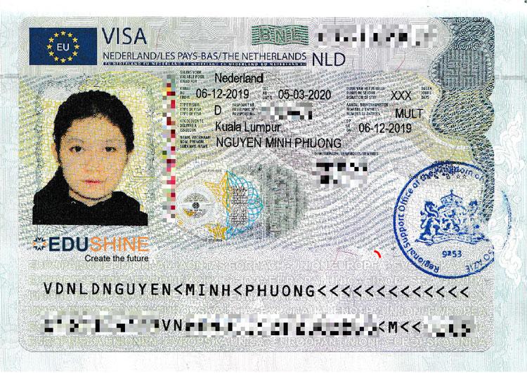 Visa Hà Lan của Phương
