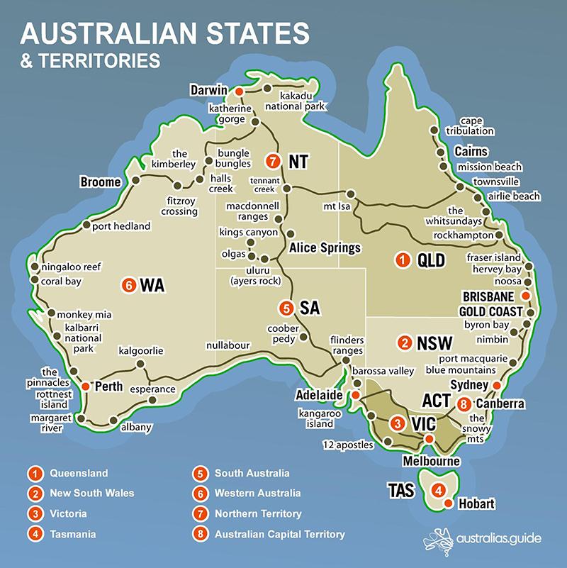 Các bang của nước Úc