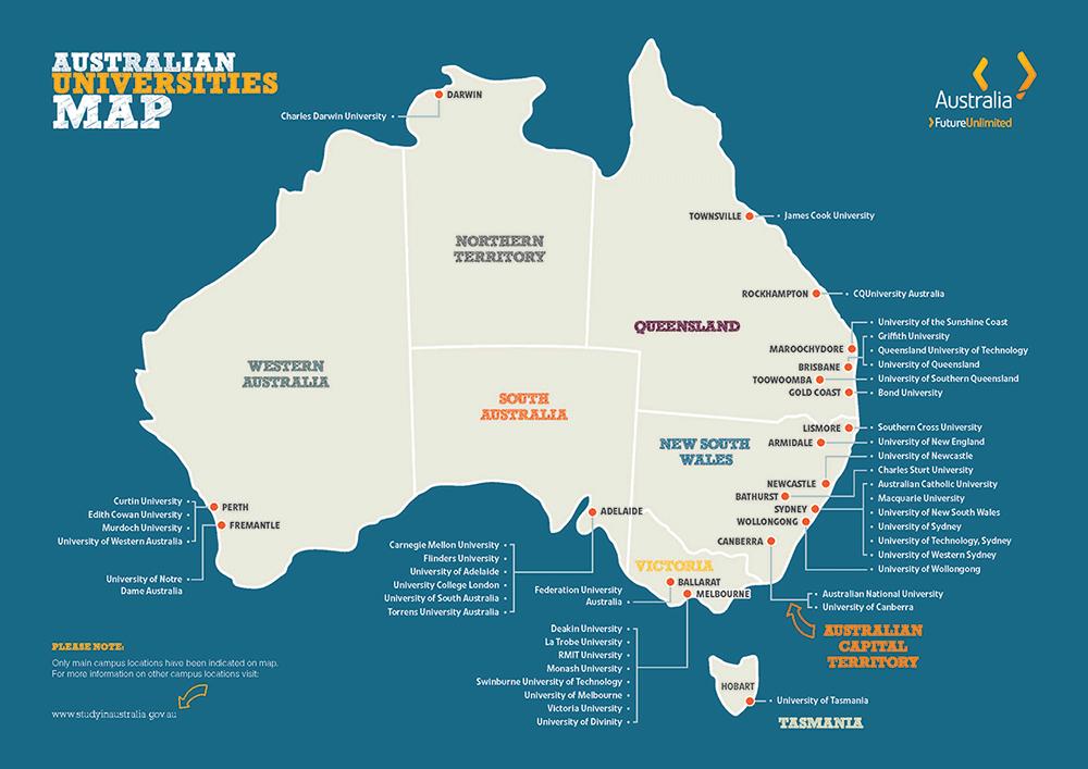 Danh sách các trường tại Úc