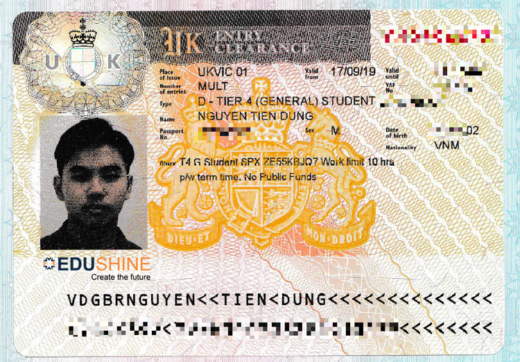 Visa của Dũng
