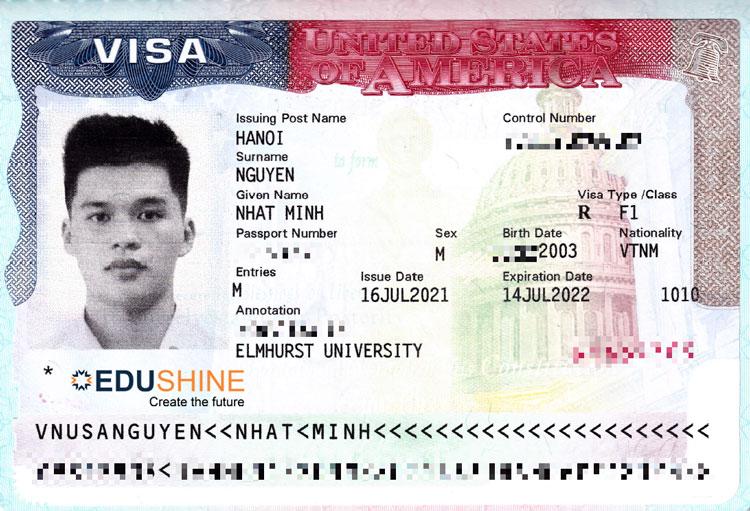 Visa của Minh